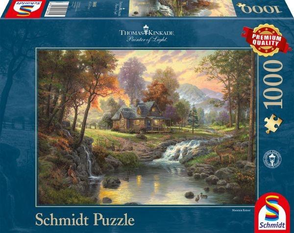 Schmidt 58445 Holzhaus am Bach Thomas Kinkade 1000 Teile Puzzle