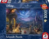 Schmidt 59484 Disney Die Schöne und das Biest, Tanz im Mondlicht Thomas Kinkade 1000 Teile Puzzle