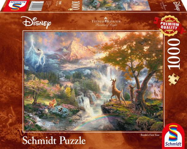 Schmidt 59486 Disney Bambi Thomas Kinkade 1000 Teile Puzzle