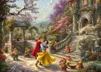 Schmidt 59625 Disney Schneewittchen - Tanz mit dem Prinzen Thomas Kinkade 1000 Teile Puzzle
