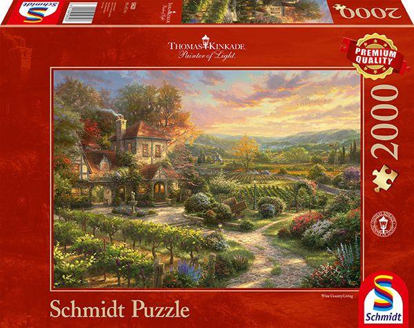 Schmidt Spiele 59629 In den Weinbergen Puzzle Thomas Kinkade 2000 Teile Puzzle