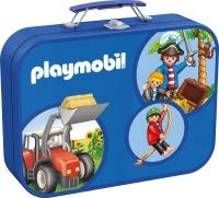 Schmidt 55599 Playmobil, Puzzle-Box blau, 2x60, 2x100...