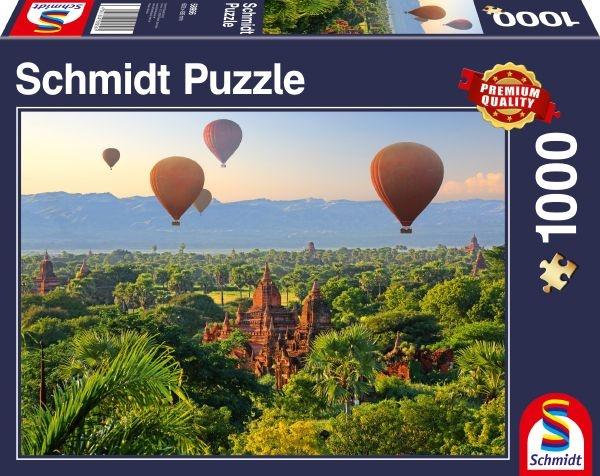 Schmidt 58956 Heißluftballons, Mandalay, Myanmar 1000 Teile Puzzle
