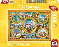 Schmidt 59901 P.D. Moreno - Schlösser 1000 Teile Puzzle