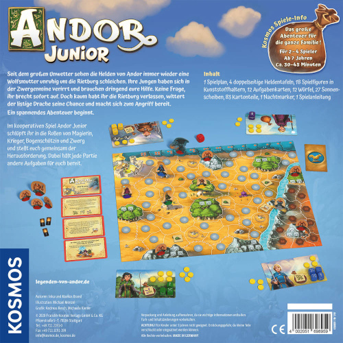 KOSMOS 69895 Andor Junior Kooperatives Brettspiel