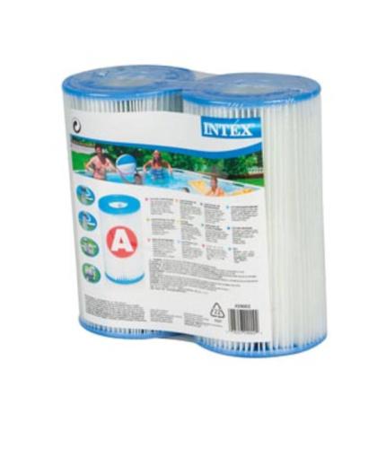 Intex 29002 Filterkartusche Typ A, 2er Pack, für Pumpen #28604, 28638, 28636, 28674