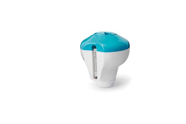 Intex 29043 Dosier-Spender (für 2,5cm Tabs) inklusive Thermometer, empfohlen für Pools bis 366cm