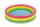 Intex 57107NP BabyPool Sunset Glow Wasserbedarf ca 33l, 3-Ringe, aufbasbarer Boden 61x22cm