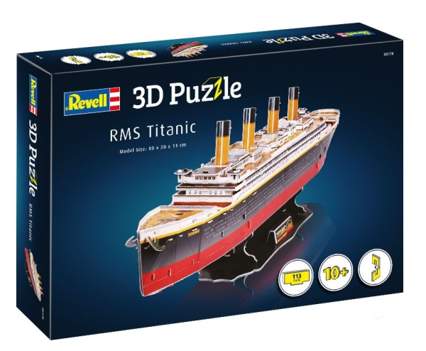 Revell 00170 3D Puzzle 113 Teile RMS Titanic