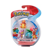 Pokemon Battle Figure Set Bisaknosp, Glumanda, Griffel