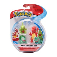 Pokemon Battle Figure Set Glutexo, Bisasam, Larvitar