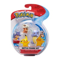Pokemon Battle Figure Set Schillok, Pikachu, Tragosso