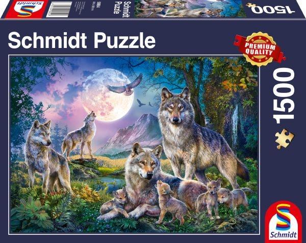 Schmidt 58954 Wölfe 1500 Teile Puzzle