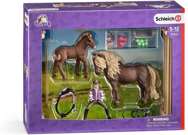 Schleich 42363 Reiterin mit Island Ponys Sonderbemalung