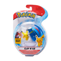 Pokemon Clip N Go Set  Pikachu & Superball