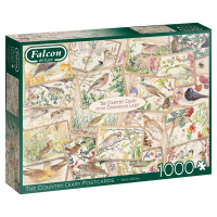 Jumbo 11336 Falcon - The Country Diary Postcards 1000 Teile Puzzle