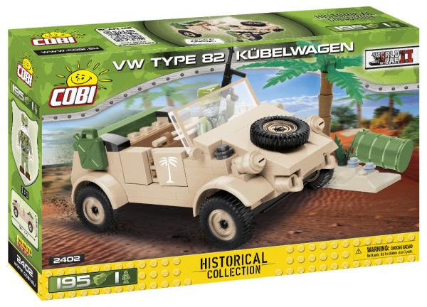 COBI 2402 HC WWII VW TYPE 82 Kübelwagen 195 Teile Bausatz