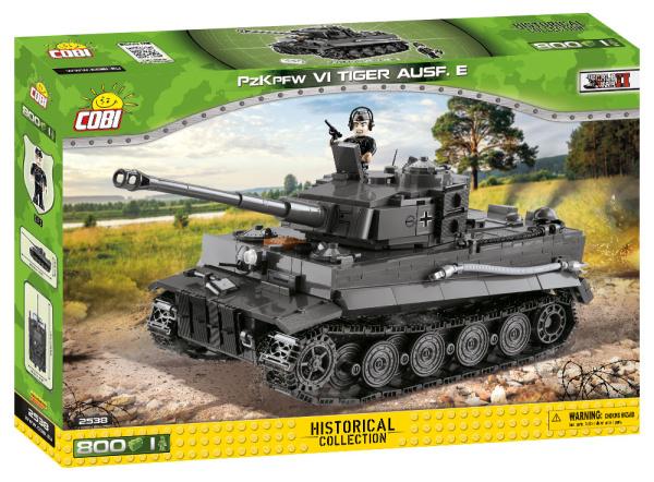 COBI 2538 HC WWII Panzerkampfwagen VI Tiger Ausf. E 800 Teile Bausatz