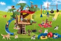 Schmidt 56403 Farm World - Fröhliche Hunde 40 Teile Puzzle mit Add-on (eine Schleich Figur)