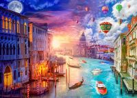 Schmidt Spiele 59906 Venedig Night and Day 1000 Teile Puzzle