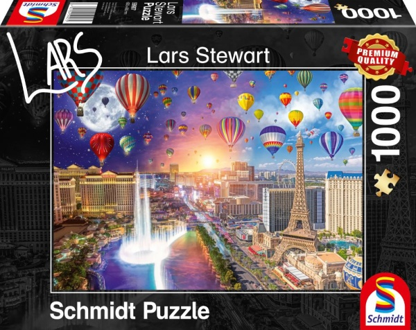Schmidt Spiele 59907 Las Vegas Night and Day 1000 Teile Puzzle