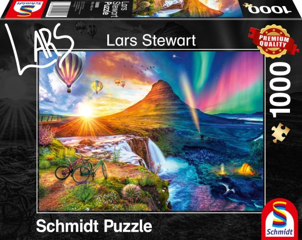 Schmidt Spiele 59908 Island Night and Day 1000 Teile Puzzle