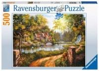 Ravensburger 16582 Cottage am Fluß 500 Teile Puzzle
