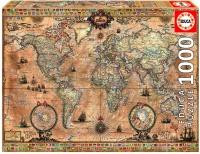 Educa 15159 Antike Weltkarte 1000 Teile Puzzle