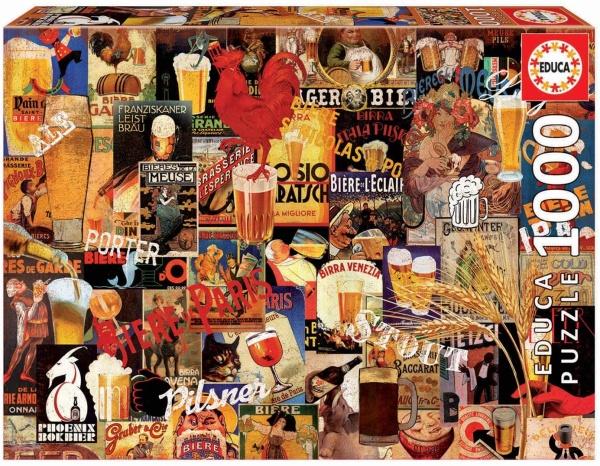 Educa 17970 Bier Vintage Schilder 1000 Teile Puzzle