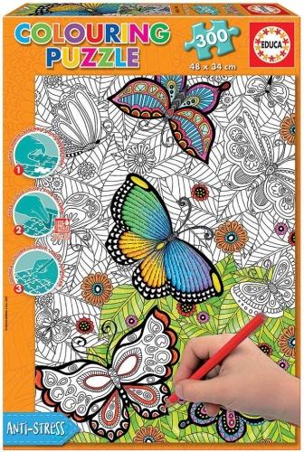 Educa 17089 Colouring Puzzle Wild & Free 300 Teile Puzzle