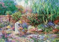 Educa 17981 Dame im Garten 300 Teile XXL Puzzle