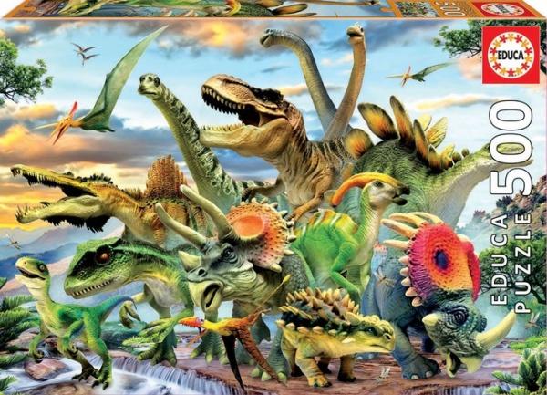 Educa 17961 Dinosaurier 500 Teile Puzzle