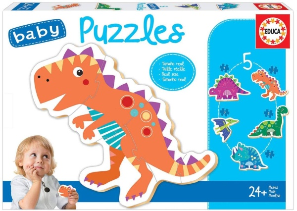 Educa 18873 Dinosaurier 24 Teile Baby Puzzle