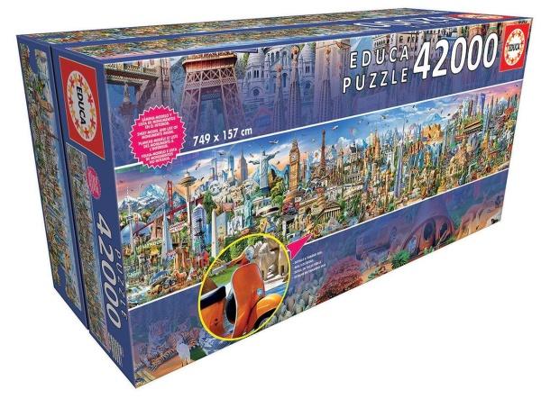 Educa 17570 Einmal um die Welt 42000 Teile Puzzle
