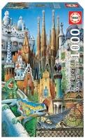 Educa 11874 Gaudi 1000 Teile Miniature Puzzle