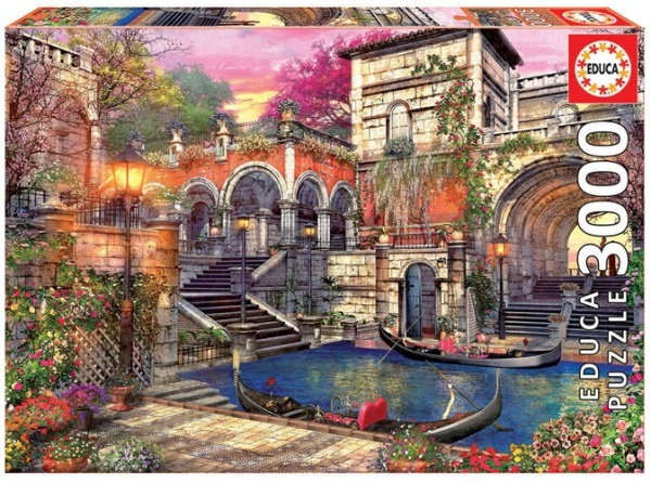 Educa 16320 Gondeln in Venedig 3000 Teile Puzzle