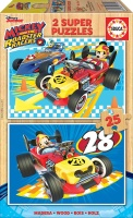 Educa 17234 Mickey 2x25 Teile Holzpuzzle