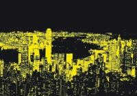Educa 18462 Hong Kong 1000 Teile Nachtleuchtpuzzle