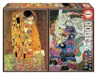 Educa 18488 Klimt 2x1000 Teile Art Collection Puzzle