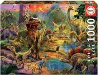 Educa 17655 Land der Dinosaurier 1000 Teile Puzzle