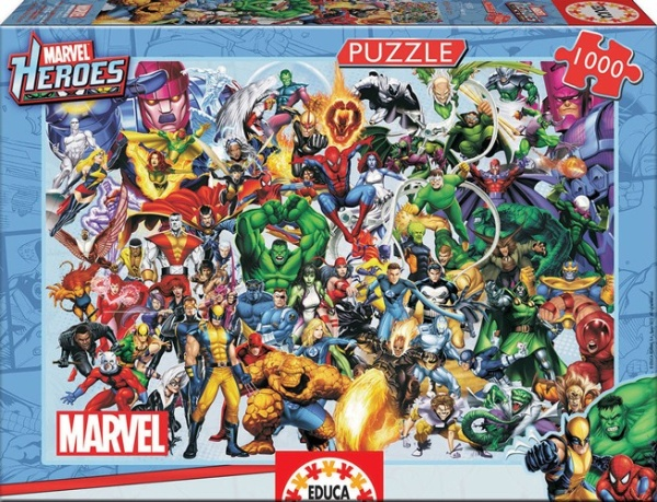Educa 15193 Marvel Heroes Collage 1000 Teile Puzzle