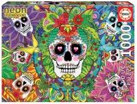 Educa 17975 Neon Sugar Skulls 1000 Teile Puzzle