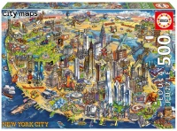 Educa 18453 New York City Maps 500 Teile Puzzle