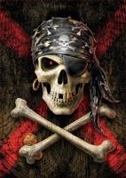 Educa 17964 Pirate Skull 500 Teile Puzzle