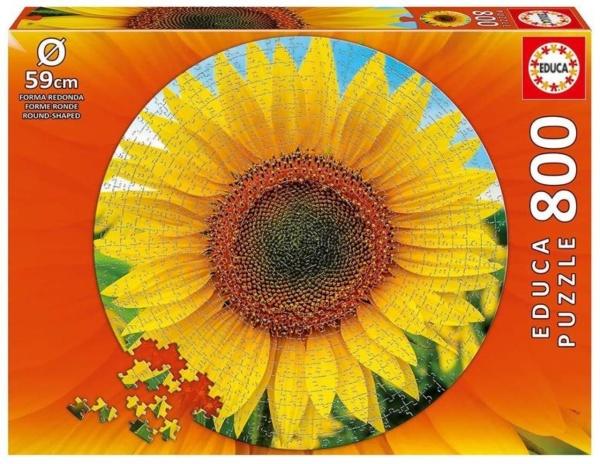 Educa 19034 Sonnenblume 800 Teile Rund-Puzzle
