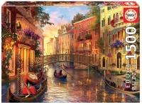 Educa 17124 Sonnenuntergang Venedig 1500 Teile Puzzle