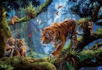 Educa 17662 Tiger in den Bäumen 1000 Teile Puzzle