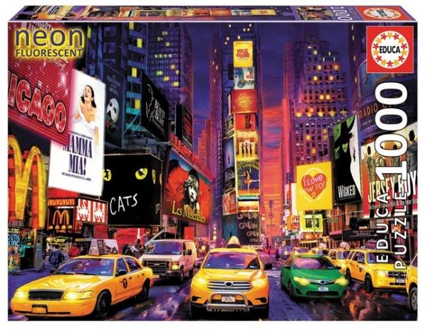 Educa 18499 Times Square 1000 Teile Leuchtpuzzle