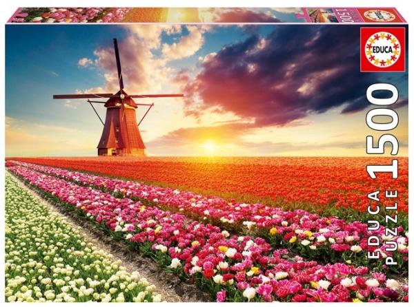 Educa 18465 Tulpen Landschaft 1500 Teile Puzzle