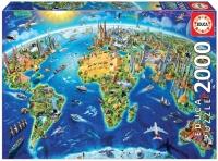 Educa 17129 Wahrzeichen Welt 2000 Teile Puzzle